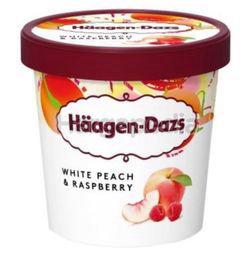 Haagen-Dazs Ice Cream White Peach & Raspberry 473ml