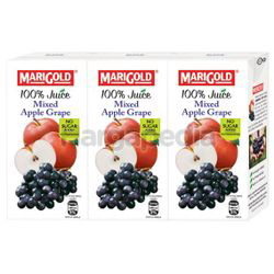 Marigold 100% Juice Mixed Apple Grape 3x200ml