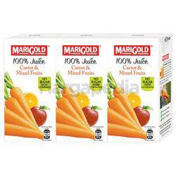 Marigold 100% Juice Carrot and Mixed Fruits 3x200ml