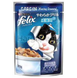 Felix Wet Cat Food Pouch Adult Sardine 70gm