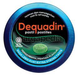 Dequadin Pastilles  Extra Strong Menthol 46gm