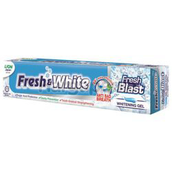 Fresh & White Fresh Blast Whitening Gel  Toothpaste 160gm