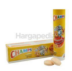 Champs Effervescent Vitamin C Plus Zinc Orange 15s