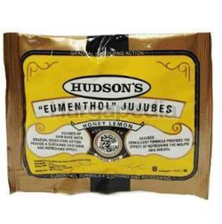 Hudson's Eumenthol Drops Honey Lemon 8s