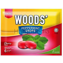 Woods's Peppermint Drops Cherry 15gm 6s