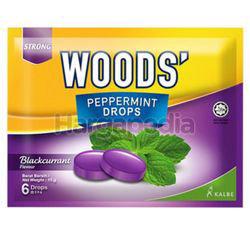 Woods's Peppermint Drops Blackcurent 15gm 6s
