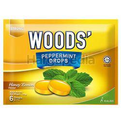 Woods's Peppermint Drops Honey Lemon 15gm 6s