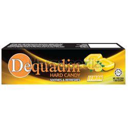 Dequadin Hard Candy Lemon 38gm