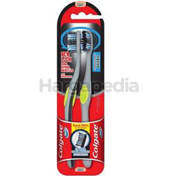 Colgate 360 Degree Charcoal Spiral Toothbrush 2s