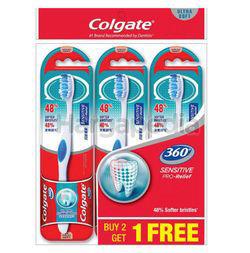 Colgate 360 Sensitive Pro Relief Toothbrush 2s+1s