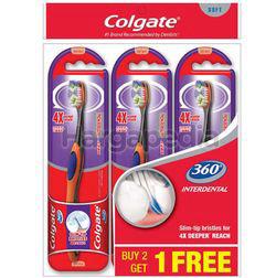 Colgate 360 Interdental soft Toothbrush 2s+1s