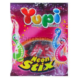 Yupi Gummy Candies Neon Stix 120gm