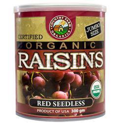 Country Farm Organic Red Seedless Raisins 300gm