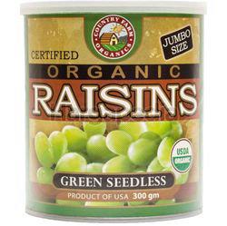 Country Farm Organic Green Seedless Raisins 300gm