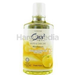 Ora2 Breath and Stain Care Mouthwash Fresh Yuzu 530ml