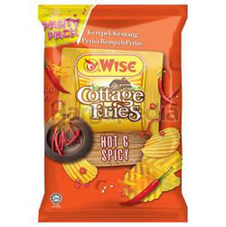 Wise Cottage Fries Potato Chips Hot N Spicy 160gm