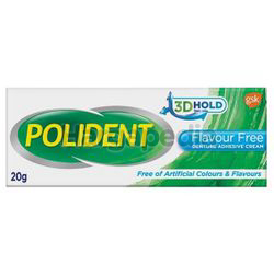Polident Adhesive Cream Flavor Free 20gm