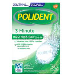 Polident Denture Cleanse 3 minute Daily Cleanser 36s