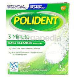Polident Denture Cleanse 3 minute Daily Cleanser 16s