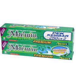 Mu'min Pudina Toothpaste 2x250gm