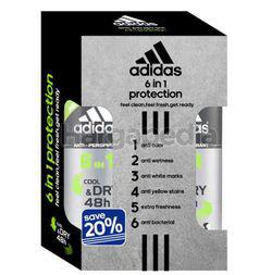 Adidas Men Deodorant Spray 6in1 Cool & Dry 2x150ml