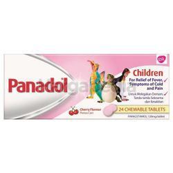 Panadol For Children Chewable Tablets 24s