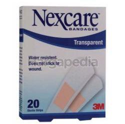 3M Nexcare Transparent Bandages 20s