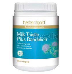 Herbs Of Gold Milk Thistle Plus Dandelion 300s