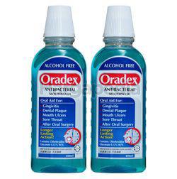 Oradex Anti-Bacterial Mouthwash 2x400ml