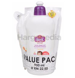 Sleek Baby Bottle, Nipple and Accessories Cleanser Value Pack 950ml