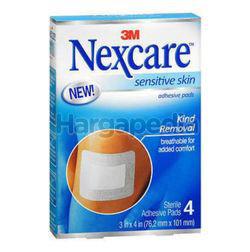 3M Nexcare Sensitive Skin Adhesive Pad 76.2mmx101mm 4s