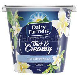 Dairy Farmers Thick & Creamy Yogurt Classic Vanilla 600gm
