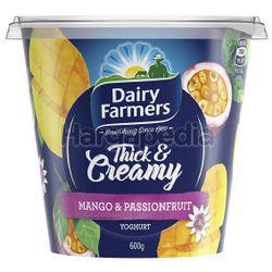 Dairy Farmers Thick & Creamy Yogurt Mango & Passionfruit 600gm