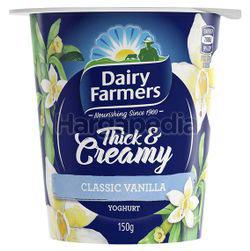 Dairy Farmers Thick & Creamy Yogurt Classic Vanilla 150gm