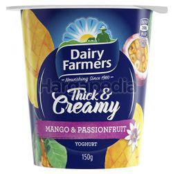 Dairy Farmers Thick & Creamy Yogurt Mango & Passionfruit 150gm