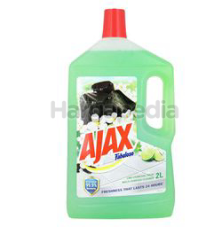 Ajax Fabuloso Floor Cleaner Lime Charcoal Fresh 2lit