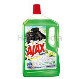 Ajax Fabuloso Floor Cleaner Lime Charcoal Fresh 3lit