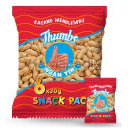 Thumbs Ngan Yin Menglembu Groundnut Snack Pack 6x30gm