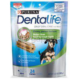Purina Dentalife Daily Oral Care Dog Treats Mini 24 Chews 193gm