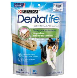 Purina Dentalife Daily Oral Care Dog Treats Small Medium 10 Chews 198gm