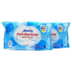Anakku Baby Wet Wipes Anti-Bacterial 2x30s