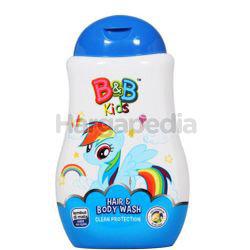 B&B Kids Hair & Body Wash Rainbow Dash 280ml