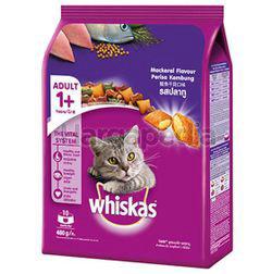 Whiskas Adult 1+ Dry Cat Food Mackerel 480gm