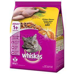 Whiskas Adult 1+ Dry Cat Food Chicken 480gm