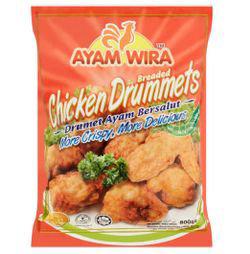 Ayam Wira Breaded Chicken Drummet 800gm