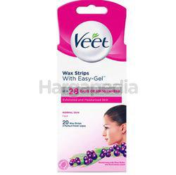 Veet Face Wax Strip Normal Skin 20s