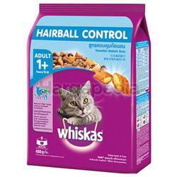 Whiskas Adult 1+ Dry Cat Food Hairball Control 450gm