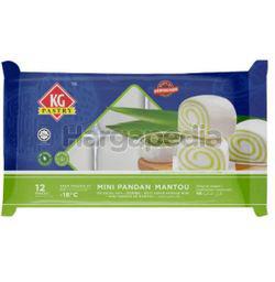 KG Pastry Oriental Buns Mini Mantou Pandan 12s 240gm