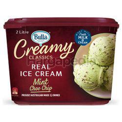 Bulla Creamy Classics Ice Cream Mint Choc & Chic 2lit