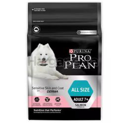 Purina Pro Plan All Size Adult 7+  Sensitive Skin And Coat Dog Food with Optiderma 2.5kg